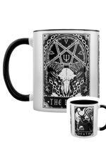 Deadly Tarot - The Devil, The Lovers & Death Black Inner 2-Tone Mug