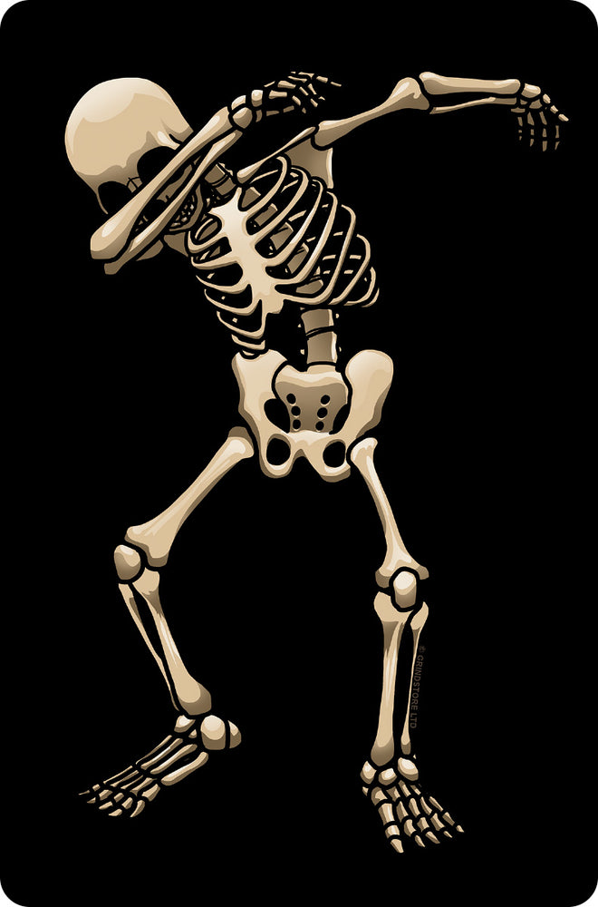 Skeleton Dab Small Tin Sign
