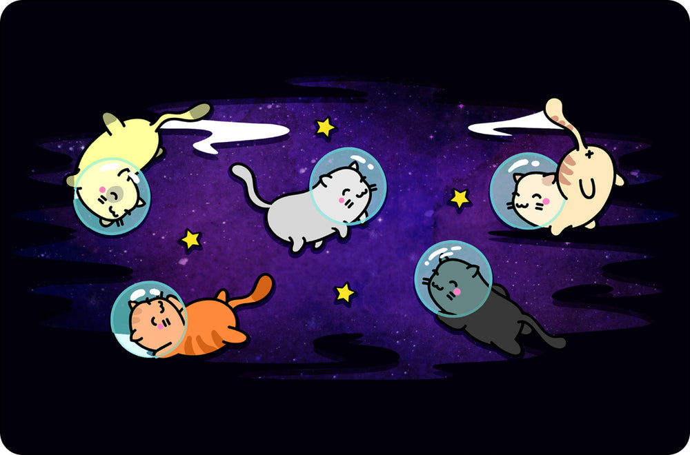 Cats In Space Small Tin Sign