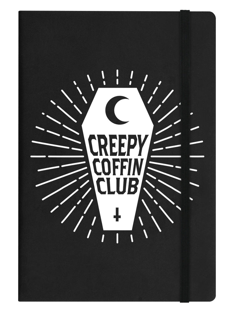Creepy Coffin Club Black A5 Hard Cover Notebook