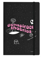 Conspiracy Theories Black A5 Hard Cover Notebook