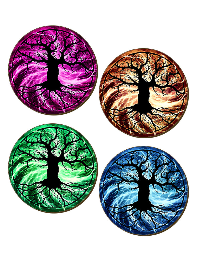 The Tree Of Life 4 Piece Coaster Set