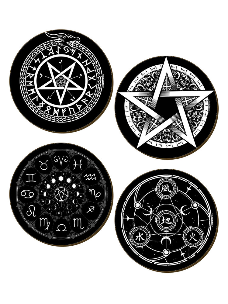 Pentagram 4 Piece Coaster Set