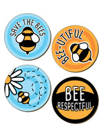 Save The Bees 4 Piece Coaster Set