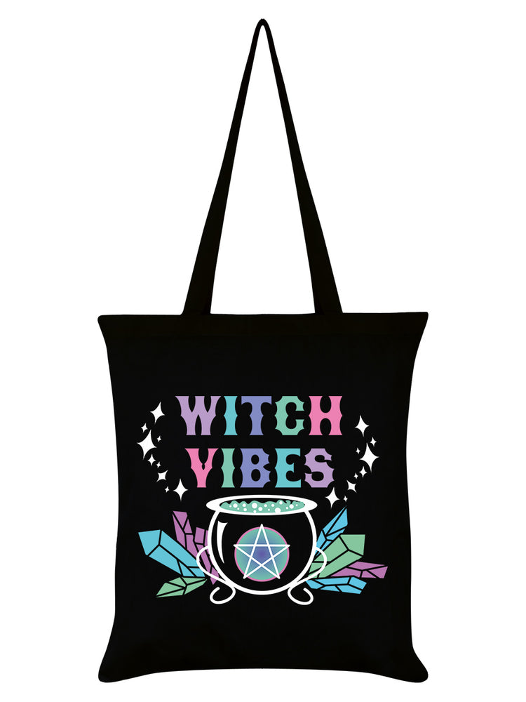 Witch Vibes Black Tote Bag