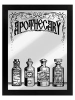 Framed Apothecary Mirrored Tin Sign