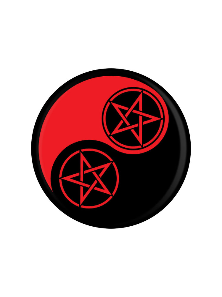 Pentagram Yin Yang Badge