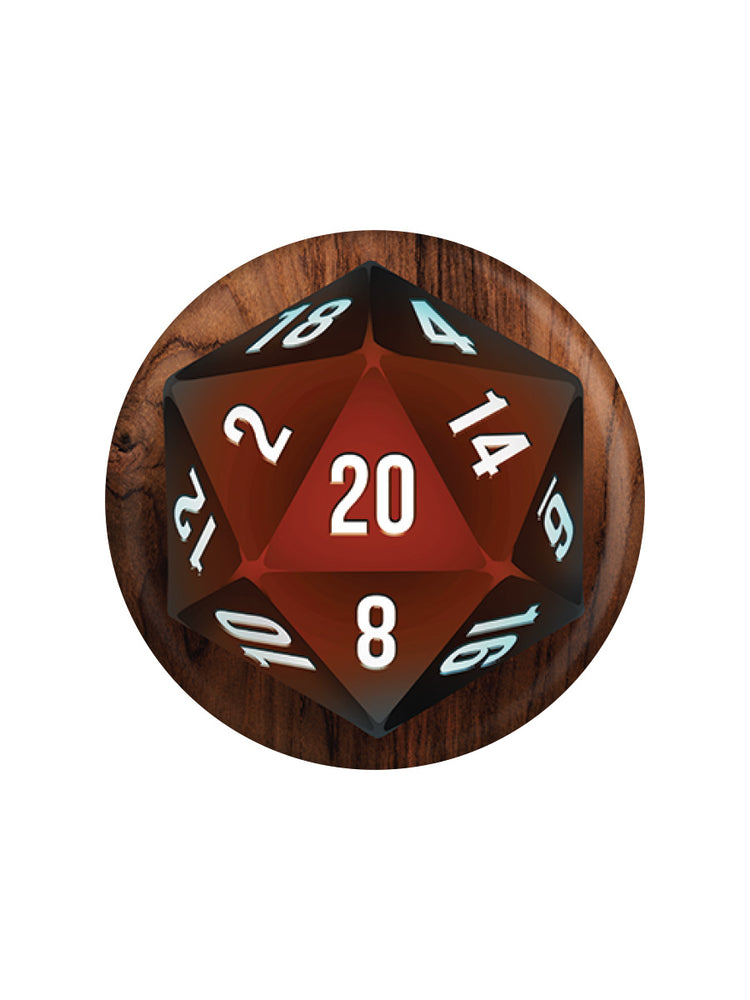 D20 Role Playing Dice Badge