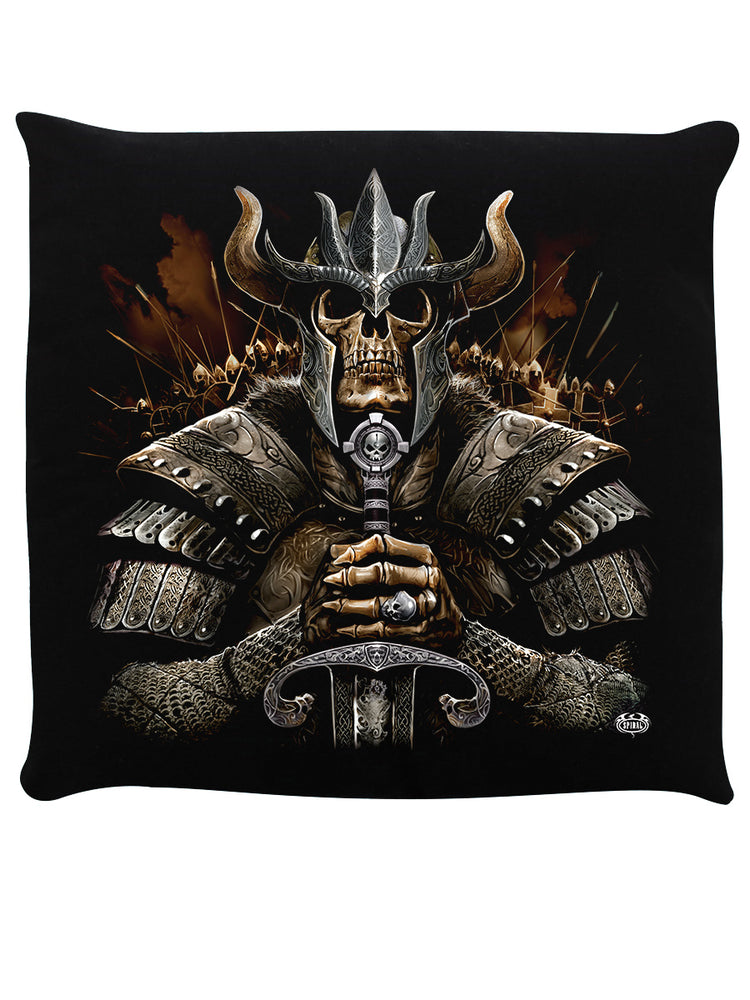 Spiral Viking Warrior Black Cushion
