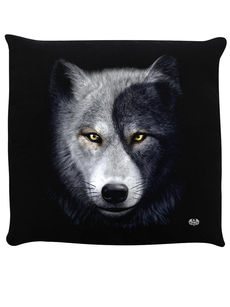 Spiral Wolf Chi II Black Cushion