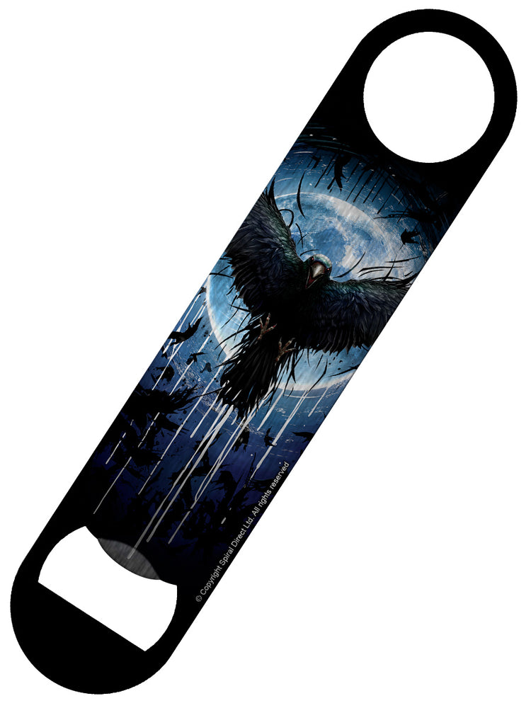 Spiral Crow Moon Bar Blade Bottle Opener