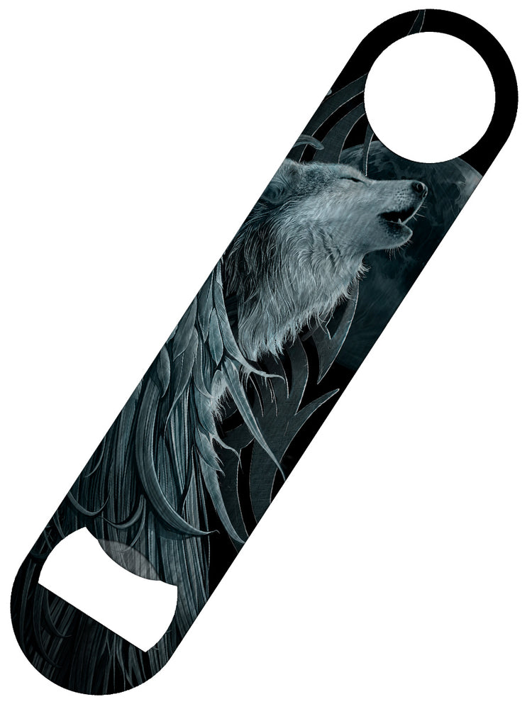 Spiral Wolf Spirit Bar Blade Bottle Opener