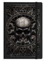 Pagan Skull Black A5 Hard Cover Notebook