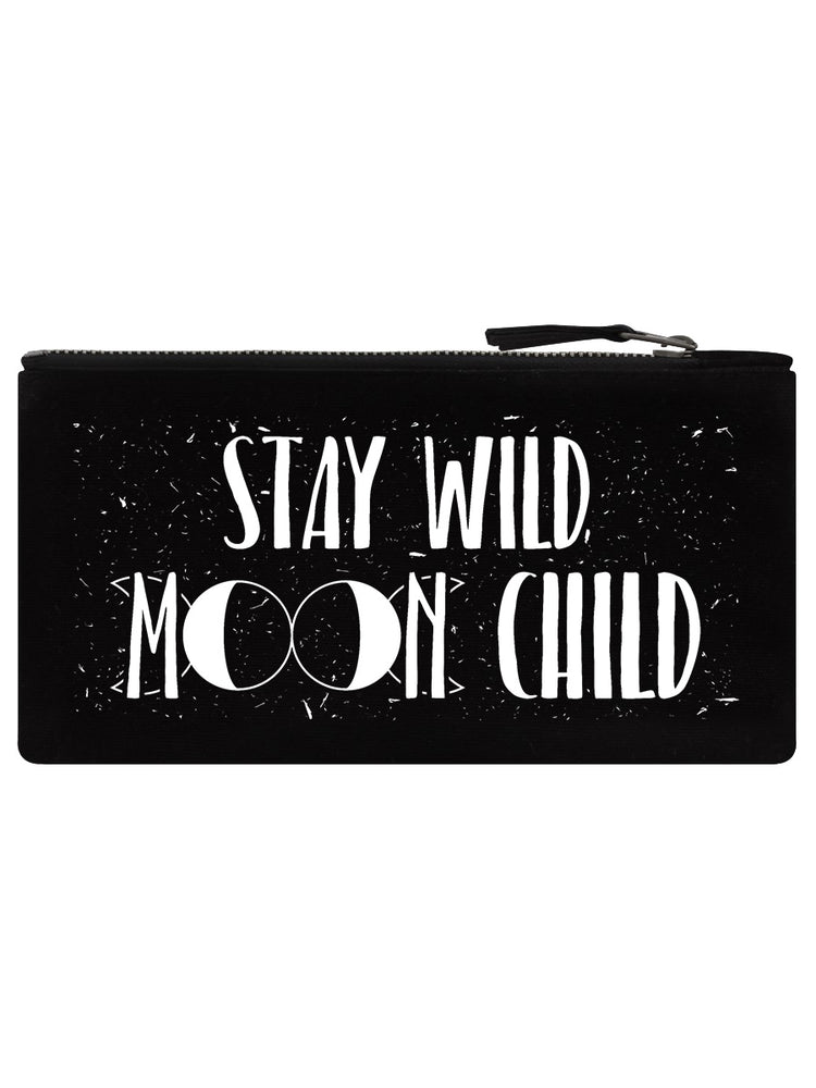 Stay Wild Moon Child Black Pencil Case