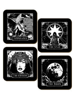 Deadly Tarot The Moon, Temperance, The Empress & The Star 4 Piece Coaster Set