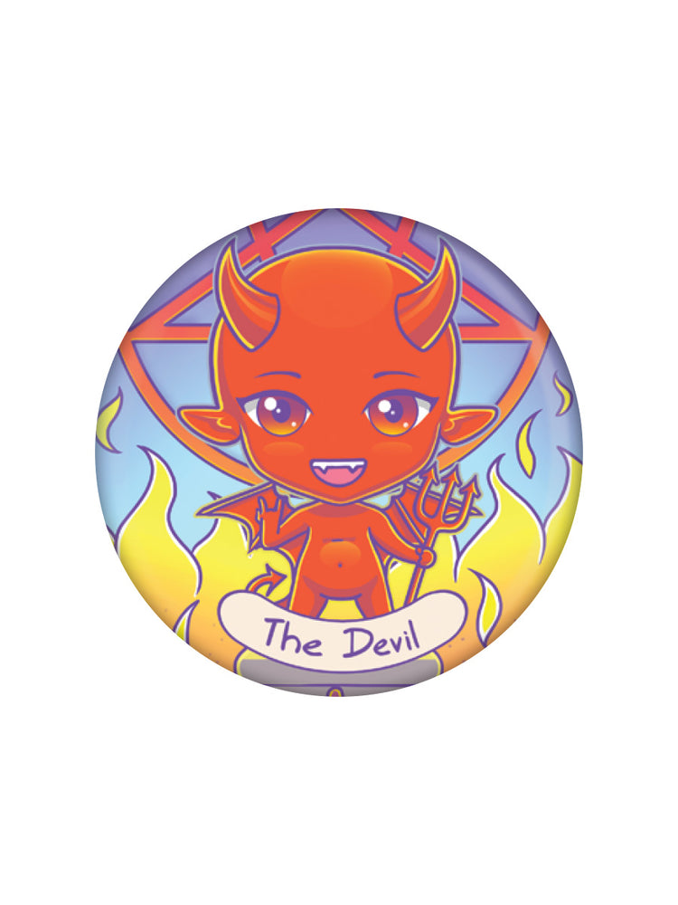 Deadly Tarot Kawaii The Devil Badge