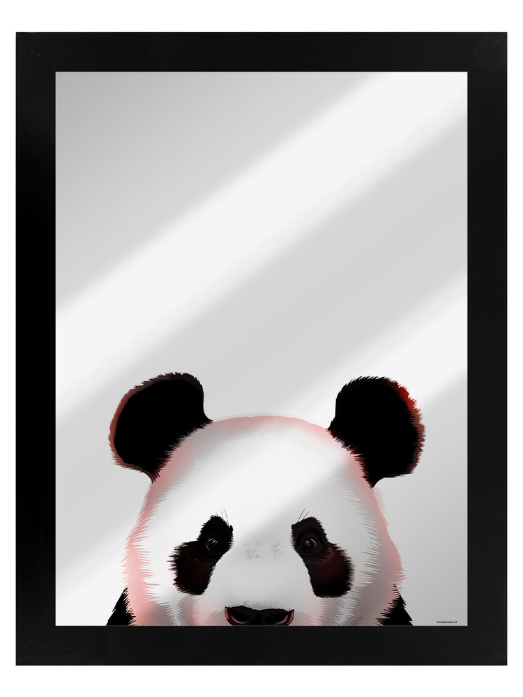 Panda Mirrored Tin Sign