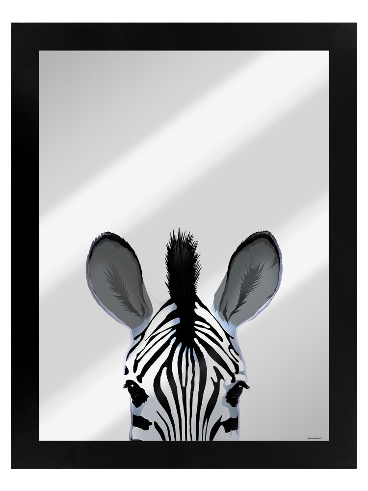 Zebra Mirrored Tin Sign
