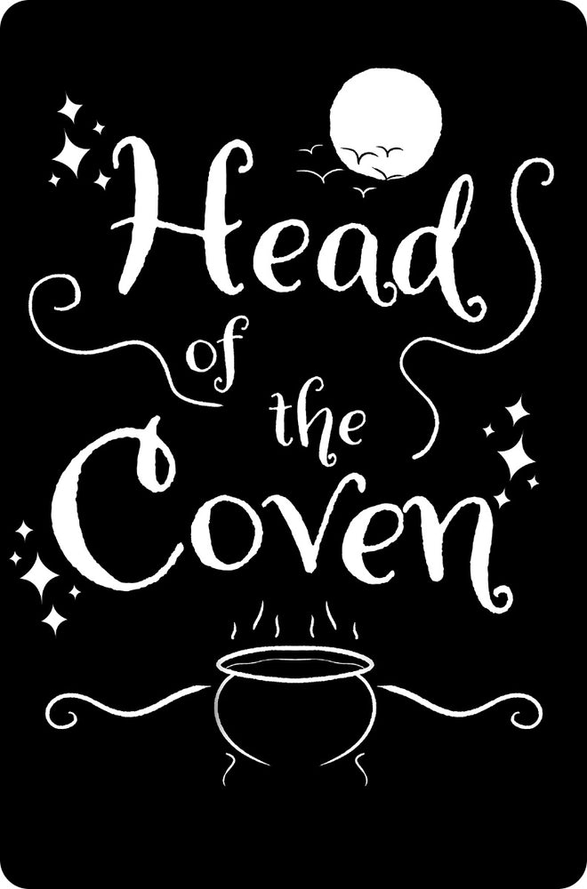 Head Of The Coven Greet Tin Card
