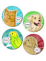 Cute But Abusive Pets - 4 Piece Coaster Set
