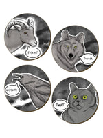 Cute But Really Abusive - 4 Piece Coaster Set