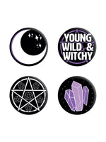 Young, Wild & Witchy Badge Pack