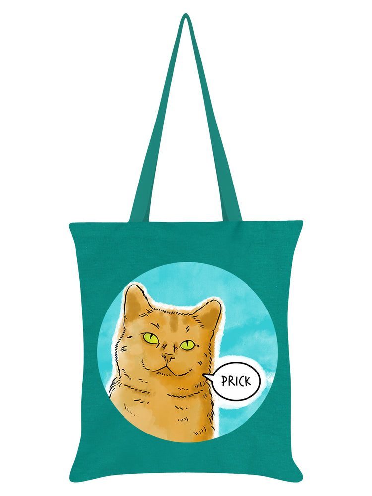 Cute But Abusive - Prick Emerald Green Tote Bag