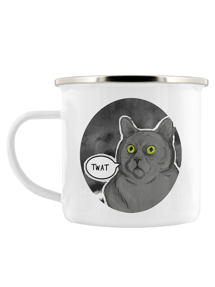 Cute But Really Abusive - Twat Enamel Mug