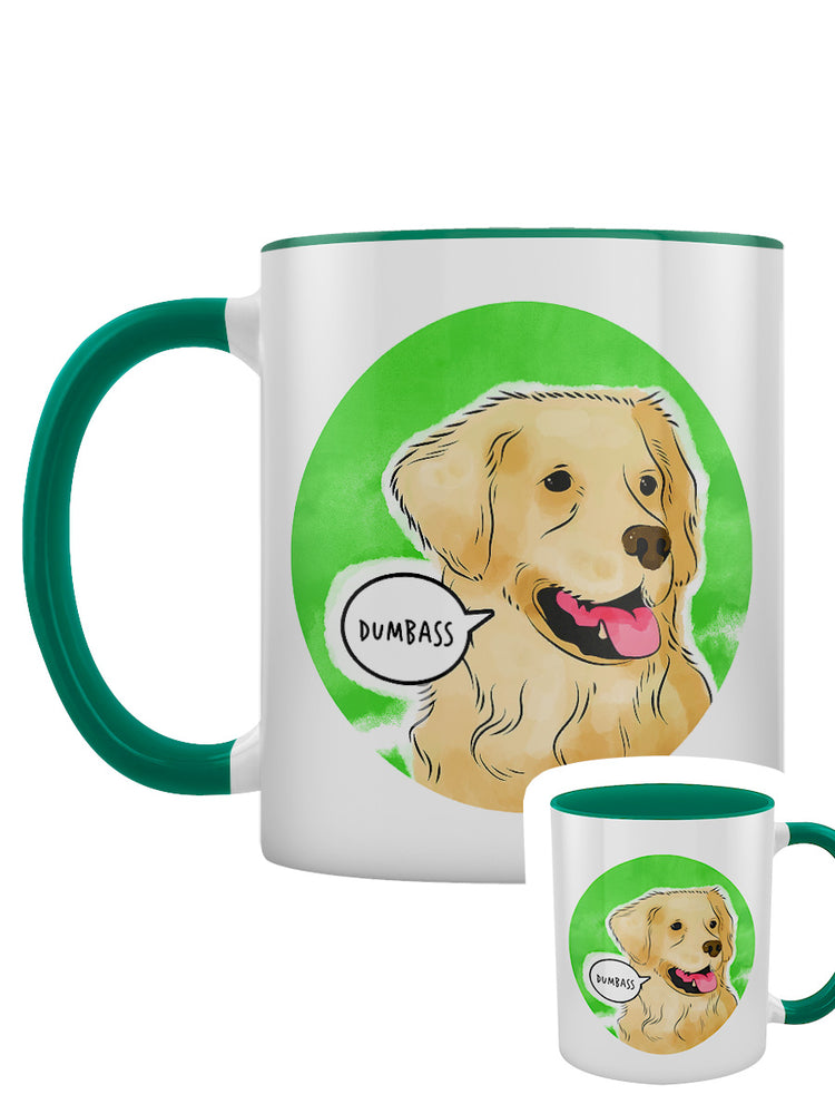 Cute But Abusive - Dumbass Green Inner 2-Tone Mug