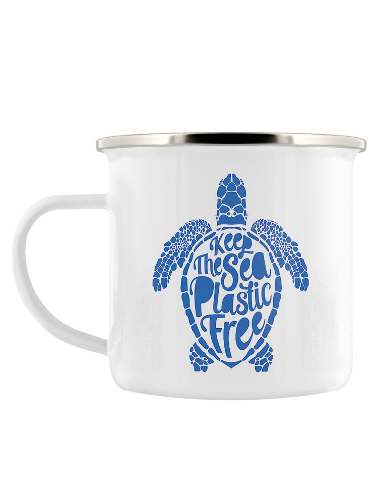 Keep The Sea Plastic Free Enamel Mug