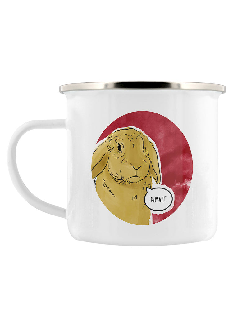 Cute But Abusive - Dipshit Enamel Mug