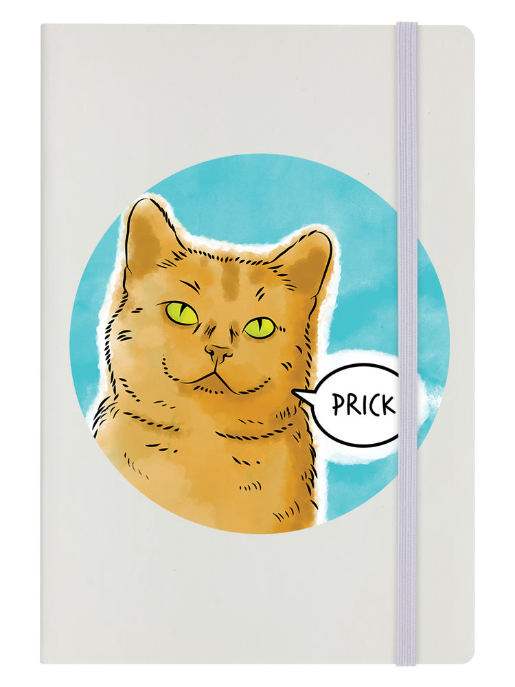 Cute But Abusive - Prick Cream A5 Hard Cover Notebook