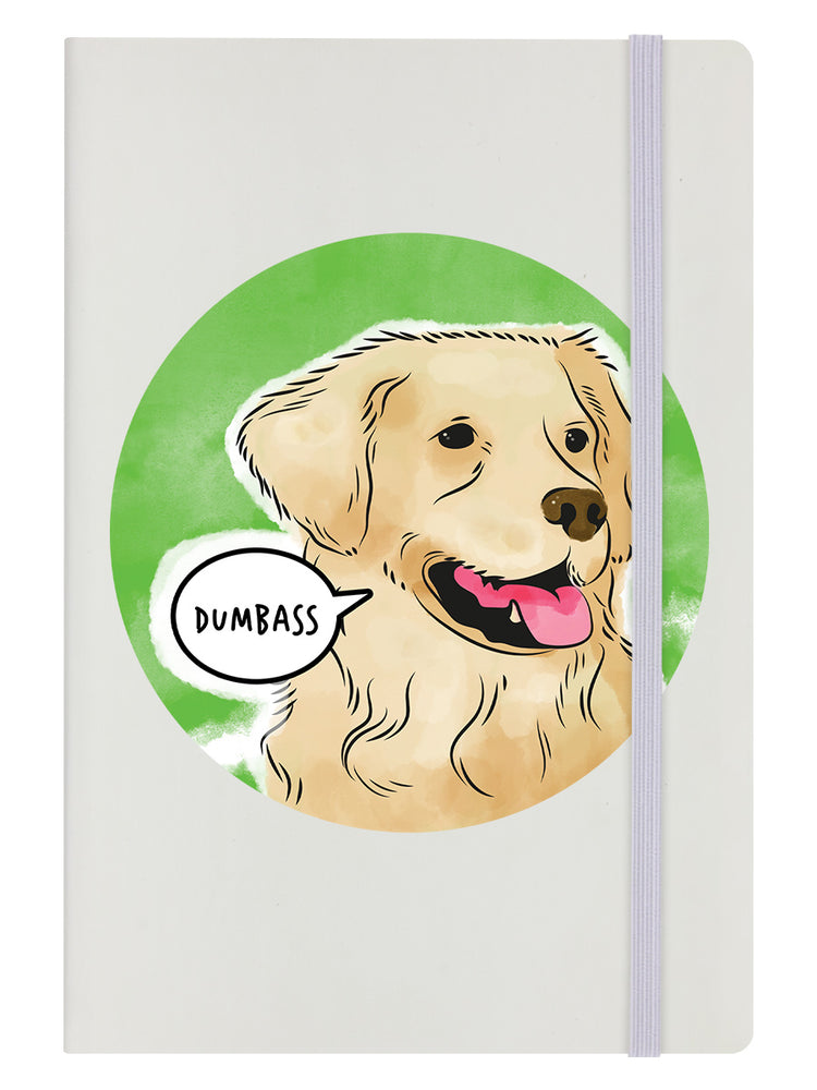 Cute But Abusive - Dumbass Cream A5 Hard Cover Notebook