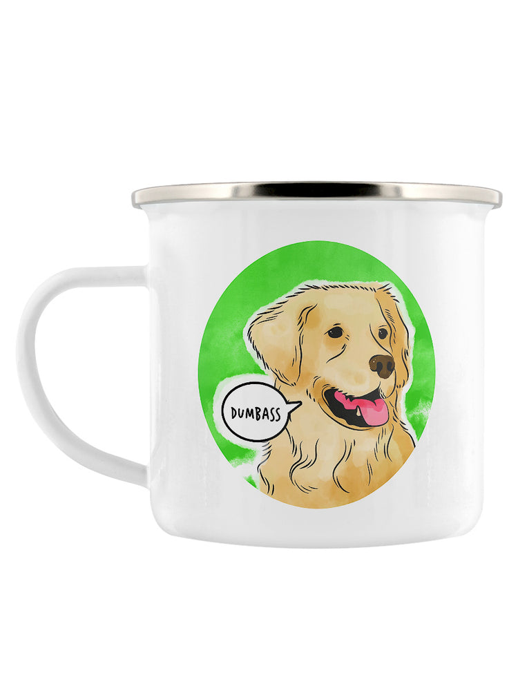 Cute But Abusive - Dumbass Enamel Mug
