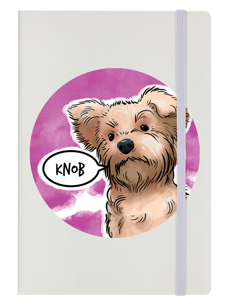 Cute But Abusive - Knob Cream A5 Hard Cover Notebook