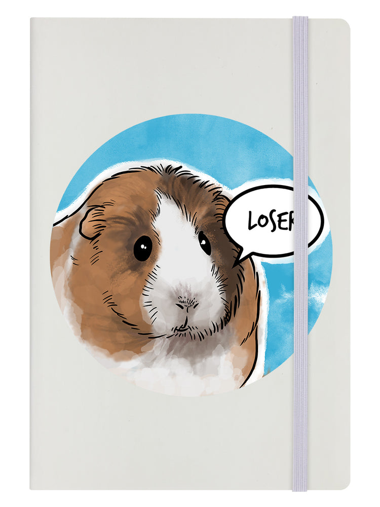 Cute But Abusive - Loser Cream A5 Hard Cover Notebook