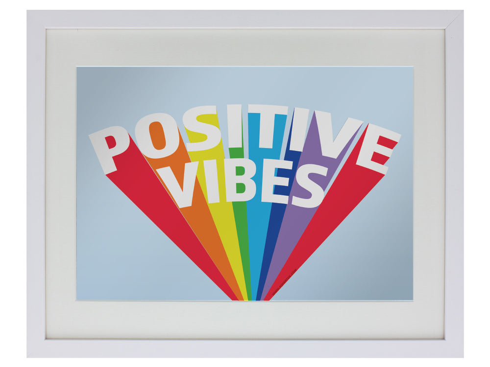 Positive Vibes Small Mirrored Tin Sign