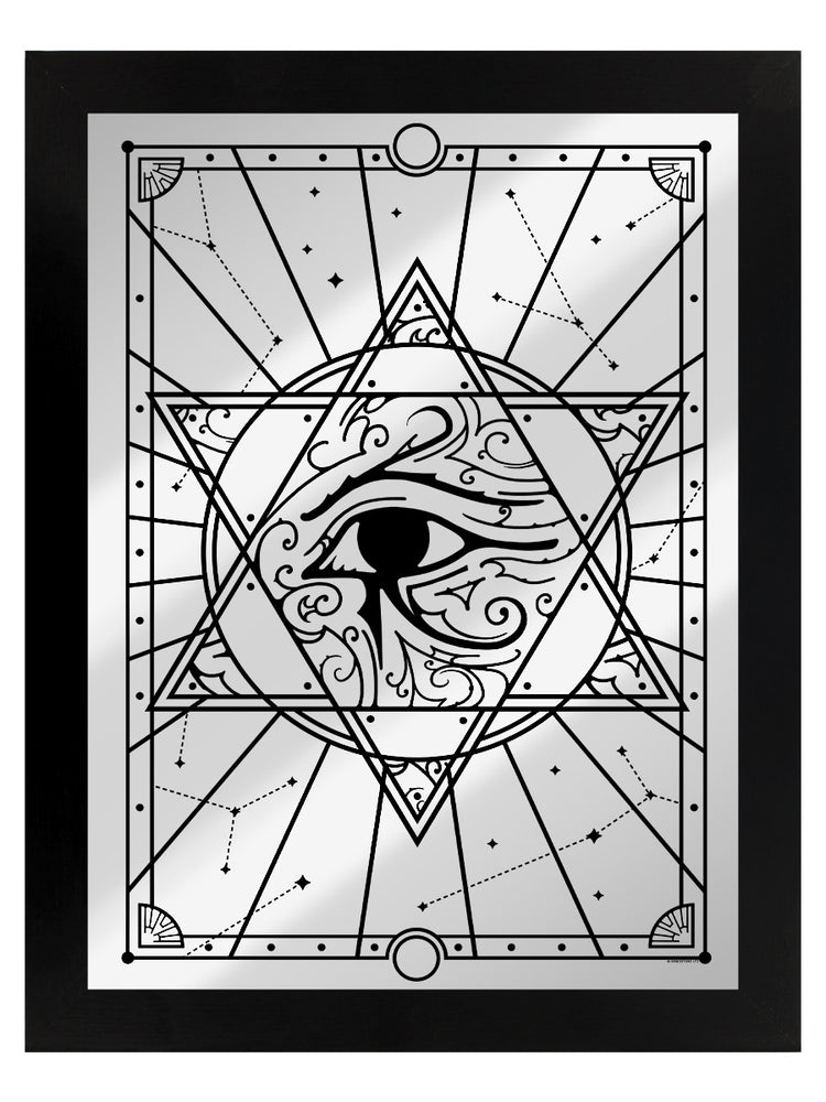 All Seeing Eye Mirrored Tin Sign