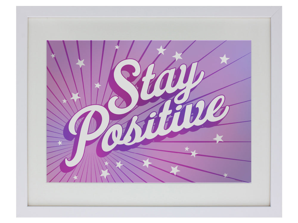 Stay Positive Small Mirrored Tin Sign