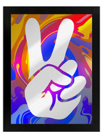 Psychedelic Peace Mirrored Tin Sign