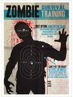 Zombie Survival Training Mini Poster
