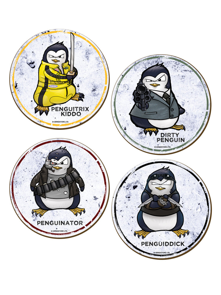Psycho Penguin Movie Coasters - 4 Pack