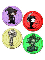 Spooky Character Coasters - 4 Pack