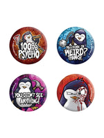 Psycho Penguin Badge Pack