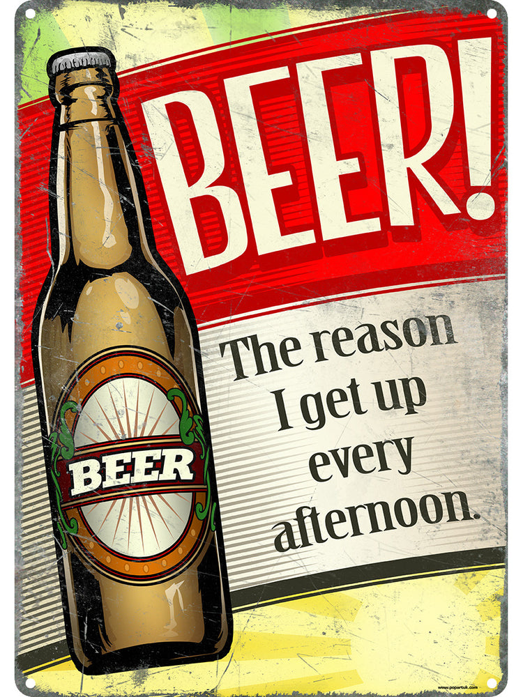 Beer, An Afternoon Delight! Tin Sign