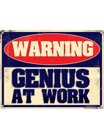 Genius At Work Mini Tin Sign
