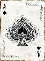 The Ace of Spades Tin Sign