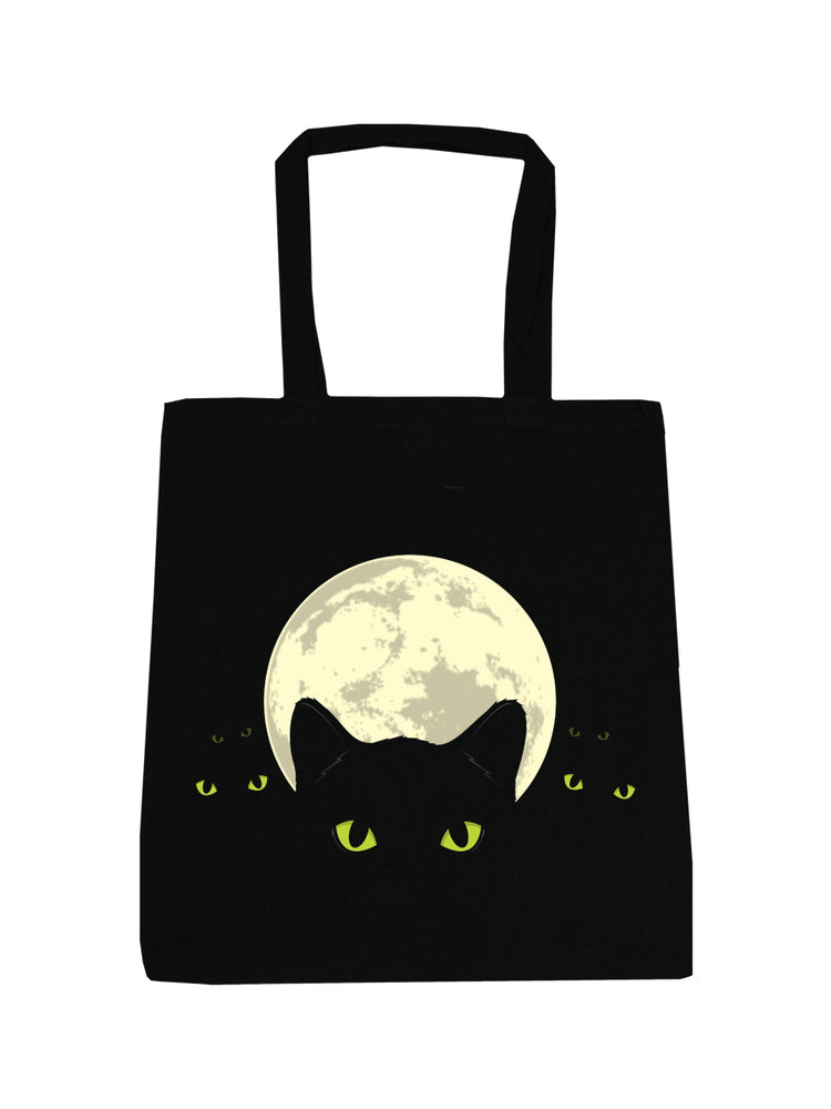 Bright Eyes Black Tote Bag