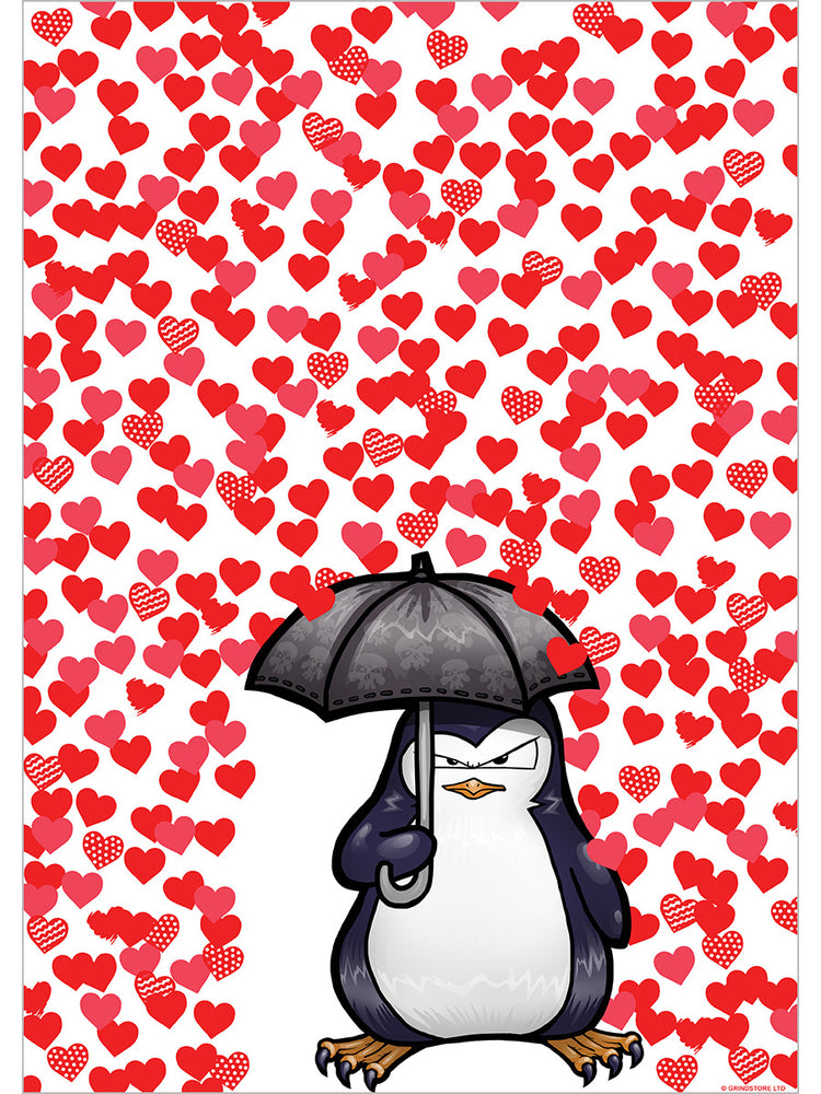 Psycho Penguin I Don't Do Love Mini Poster