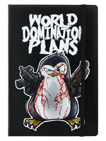 Psycho Penguin World Domination Plans A5 Hard Cover Notebook